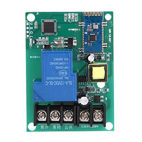 Interruptor de relé Bluetooth, Módulo de relé, Módulo Bluetooth Relé inalámbrico Bluetooth 110-250VAC Un Canal Bluetooth para Control Remoto inalámbrico Arduino
