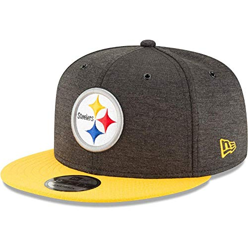 New Era NFL Pittsburgh Steelers Authentic 2018 Sideline 9FIFTY Snapback Home Cap, Größe :M/L