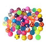 Beyond Dreams Lot de 24 Ballons sauteurs | Anniversaire des Enfants | Balle en Caoutchouc | Balle rebondissante pour Les Enfants | Party Favor | Couleurs Vives | pour Les garçons et Les Filles