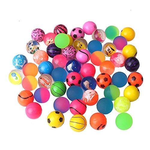Beyond Dreams® Lot de 24 Ballons sauteurs | Anniversaire des Enfants | Balle en Caoutchouc | Balle rebondissante pour Les Enfants | Party Favor | Couleurs Vives | pour Les garçons et Les Filles