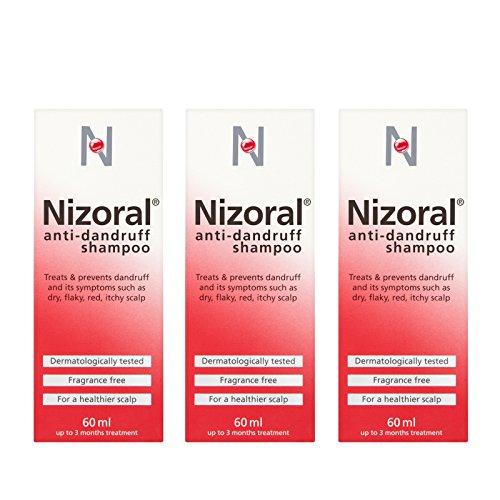 Nizoral Anti Dandruff Shampoo Ketoconazole 3 x 60ml