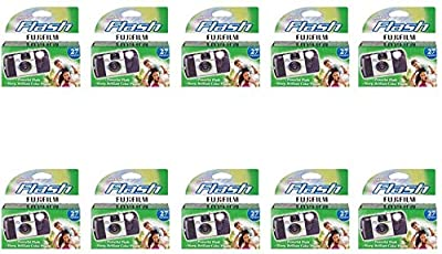 Fujifilm Quicksnap Flash Disposable Camera 35mm Film Single Use 800 ISO by FUJIFILM