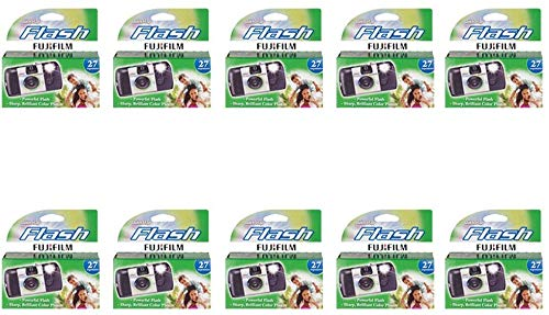 Cheapest Prices! Fujifilm Quicksnap Flash Disposable Camera 35mm Film Single Use 800 ISO (10 -Pack)