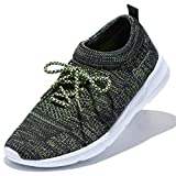 DailyShoes Women's Sneakers Running Shoe Walking Cross Training Sneakerss Breathable Lightweight Hiking Fashion Tennis Trainers Comfortable Shoes Black,Lime,mesh,7