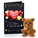 Spread the love cards this Valentines Day! -Greeting Card with Teddy Love Gifts for Girlfriend, Boyfriend, Birthday, Husband, Wife, Love, Couple or your partner! Gift Card with Envelope Size 22 X 15 cm Soft toy for express your feelings A great way t...