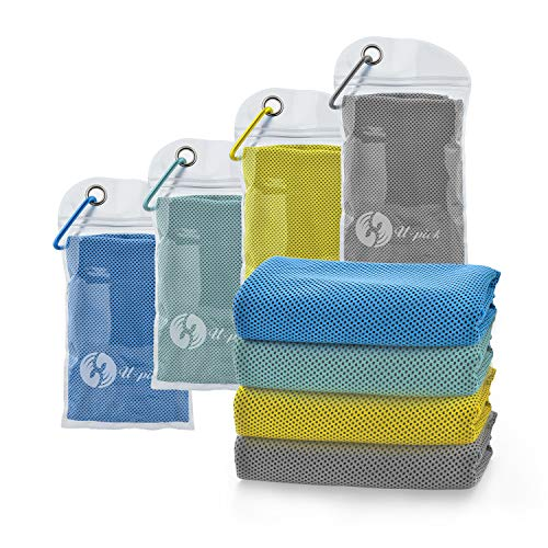 4 Packs Cooling Towel for Neck,Ice Towel,Microfiber Towel,Soft Breathable Chilly Towel Stay Cool for Yoga,Sport, Gym,Workout,Camping,Fitness,Running,Workout & More Activities