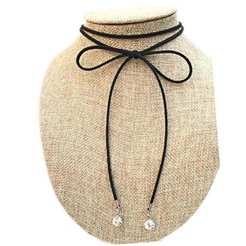 Belle corde noire Collier de mode