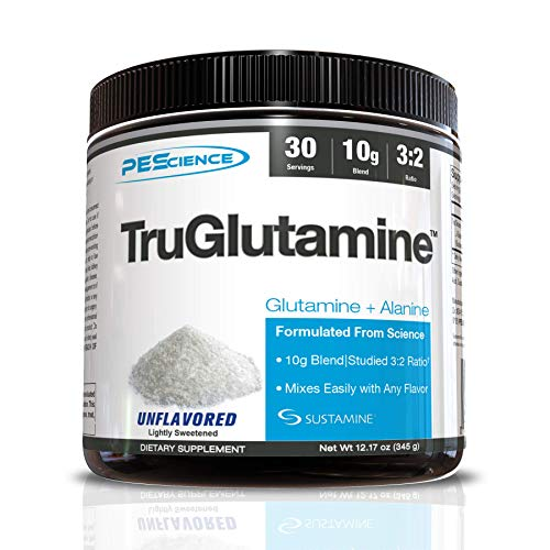 PEScience TruGlutamine Unflavored (Superior Glutamine Formula), 12.17 oz - 30 servings