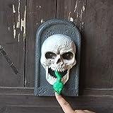 スカルハロウィーンの魔女ハロウィーンは、レストランバー装飾品ドアベル電気発光ドアベルの小道具 (Size : 2)