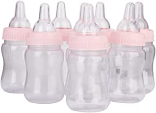 Tinksky 12pcs Fillable Candy Bottle Gift Box Baby Shower Favors (Pink Lid)