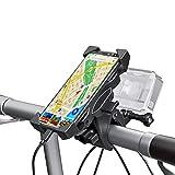 Wiecok Porta Cellulare Bici, Supporto Fotocamera Bici 360° Rotabile Supporto Manubrio Moto per Ciclismo, GoPro Hero, GPS, Smartphone e Altri Dispositivi Elettronici 4,0-6,5 Pollici, Diametro 16-60mm