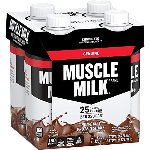 Muscle Milk Genuine Protein Shake, Chocolate, 25g Protein, 11 Fl Oz, 4 Pack