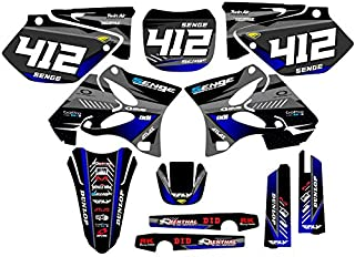 2002-2004 YZ 125/250 (2-Stroke), Surge Black CUSTOM Complete kit, Senge Graphics, Compatible with Yamaha