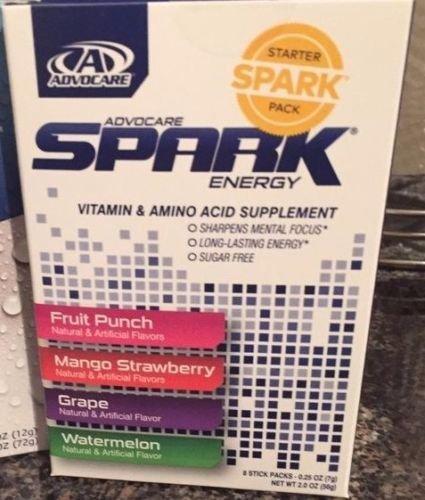 AdvoCare New Spark! Spark Energy Drink Starter Pack 8 Stick Box Multi Flavor