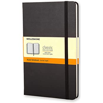 "Moleskine Classic Notebook, Hard Cover, Pocket (3.5"" x 5.5"") Ruled/Lined, Black, 192 Pages"