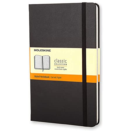 """Moleskine Classic Notebook, Hard Cover, Pocket (3.5"""" x 5.5"""") Ruled/Lined, Black, 192 Pages"""
