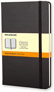 Moleskine - Classic Hard Cover Notebook - Ruled - Pocket - Black, (MM710)