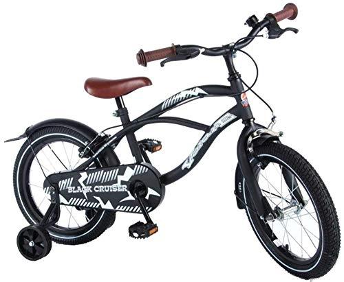 Volare Bicicleta de bebé, Fly Black Cruiser, 16 Pulgadas, F