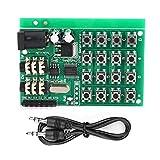 Kuuleyn Módulo generador de Audio Interfaz de Entrada de 7 MCU, Equipado con Dos Conectores de Audio de 3,5 mm, Tarjeta transmisora de codificación Dual de Voz DTMF AE11A04 5~24 VCC