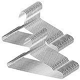 TUXWANG 18/10 Perchas de Acero Inoxidable 30 Piezas un Conjunto Perchas de Alambre Metálico de...