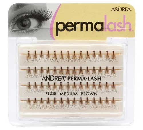 Andrea False Eyelashes Individual Lashes Knotted, Flares Medium Brown