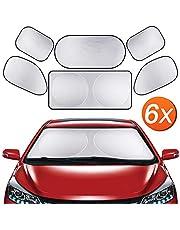 MOTALIN Auto Copertura Parasole,Parasole per Auto,Protezione per Finestra Anteriore Automatica con Motivo A Gocce di Pioggia Coccinella Misura Universale Copertura per Parabrezza DellAuto