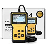 FYSMY OBD2 Scanner,Enhanced OBD II Automotive Engine Fault Code Reader Diagnostic Scan Tool Vehicle Trouble Codes Analyzer CAN Scan Tool for OBDII Protocol Cars Since 1996 (Yellow)