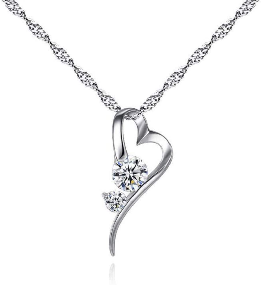 Free Shipping Max 88% OFF Cheap Bargain Gift Qikafan Personalized Women Rhinestone Pendant Necklace