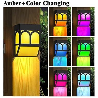Solar Powered Color Changing Mount Light Outdoor Landscape Garden Yard Fence Warm (8)