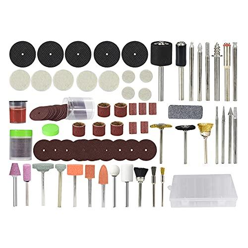 Accesorios de herramientas rotativas para Mini juego de brocas 113 piezas Juego de herramientas abrasivas para pulir Lijado Herramientas de molienda-113 piezas con caja
