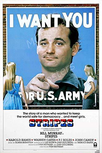 "MCPosters - Stripes Bill Murray Glossy Finish Movie Poster - MCP653 (24"" x 36"" (61cm x 91.5cm))"