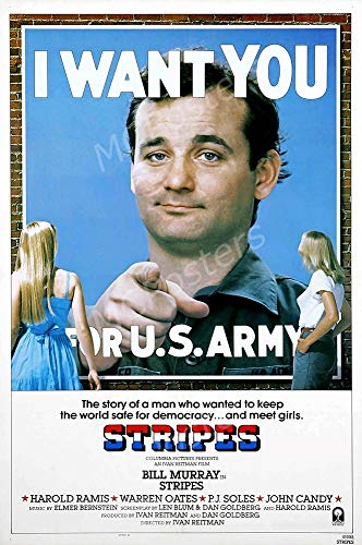 "MCPosters - Stripes Bill Murray Glossy Finish Movie Poster - MCP653 (24"" x 36"" (61cm x 91.5cm))"