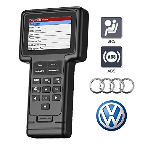 thinkcar VAG Scanner, OBD2 Scanner for VW Audi SEAT Skoda with 130+ Systems, Car Diagnostic Tool Check Engine Light, SRS ABS Code Reader with Oil Service and Brake Pad Reset Tool