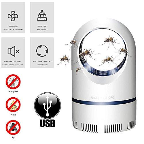XXCC Lampe Anti-Moustique Domestique,Anti-Moustique,Lampe Anti-Moustique Physique à économie d'énergie sans rayonnement muette,lumière ultraviolette à 360 degrés pour Tuer Les moustiques