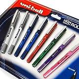 Uni-Ball Eye UB-157D - Bolígrafo de tinta líquida (0,7 mm, 8 unidades), varios colores