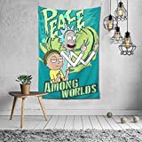 Shanion Rick&Morty Tapestry Wall Hanging Room,Tapestry Living Room Dormitory Decoration,Curtain Picnic Tapestry, 60x40 Inch
