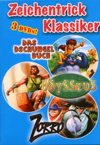 Die Abenteuer Box (Das Dschungelbuch, Zorro & Odysseus) (3 DVDs)