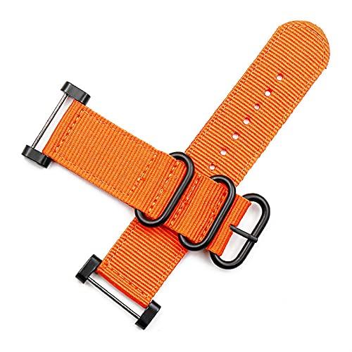 XXDA Accesorios de Reloj Nylon Correa Pin Hebilla 24mm para Suunto Core Sports al Aire Libre Impermeable Pulsera Femenina Hombres Reloj Banda (Band Color : Set of connectors, Band Width : 24mm)