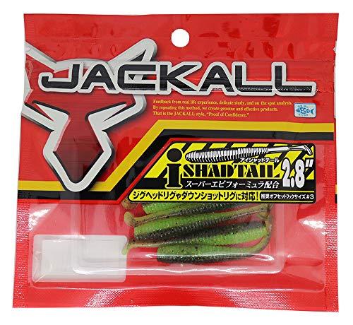 JACKALL(ジャッカル) ワーム アイシャッドテール 2.8インチ グリパン/チャート
