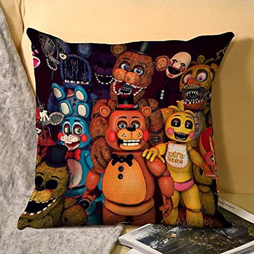 Best-design Troll FNAF - Federa per cuscino in microfibra per divano, giardino, letto, divano, 45 x 45 cm