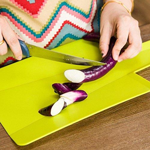 Coupe pliant support pour ensemble de planche à découper à découper assorties Cook Ustensiles de Cuisine outils, Plastique, Green, m