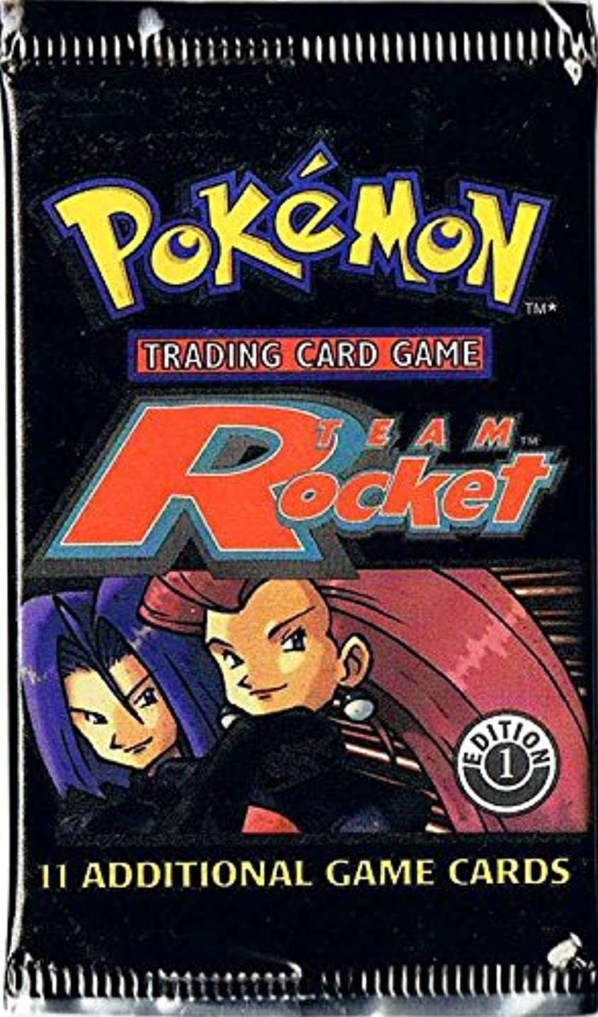 Pokemon Card Game - Team Rocket 1st Edition Booster Pack - 11 Cards