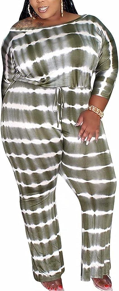 Mintsnow Jumpsuits for Women Casual Loose Wide Leg Long Romper Playsuits Pants Suits Plus Size