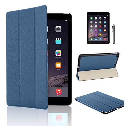 MOFRED Blue Ultra Slim New Apple iPad Air 2 (Launched Oct. 2014) Leather Case Cover, Full Protection Smart Cover for iPad Air 2 iPad 6th Generation