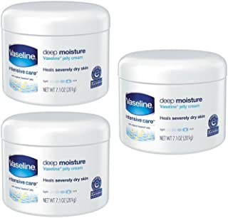 Vaseline Intensive Care Cream Deep Moisture 7.1 Ounce Jar (210ml) (3 Pack)