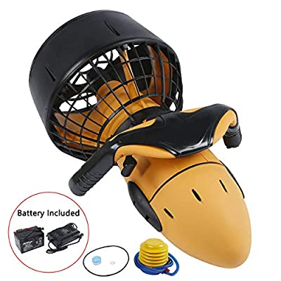 Tengchang 300W Electric 6km/h Diving Sea Scooter Waterproof Dual Speed Swimming Boosters w/Battery