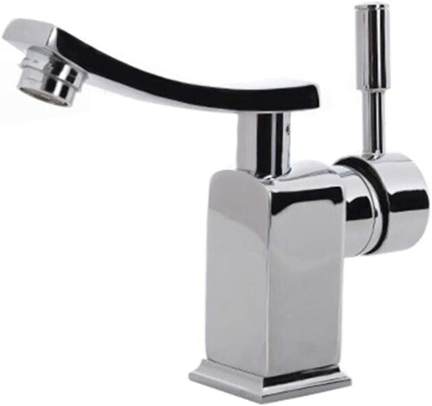 Taps Mixer?Swivel?Faucet Sink Cold and Hot Bathroom Washbasin Faucet Can redate