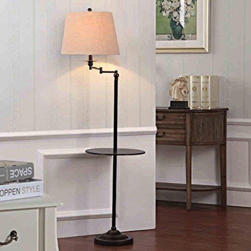 JCRNJSB® Lampe de plancher américain Scandinavian Simplicity Table de café verticale moderne Table basse Table de chevet Lampes sans source lumineuse Dimmable, peut être éclairé