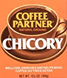 Coffee Partner Natural Ground Chicory Coffee, 6.5 Ounce (Pack of 12)