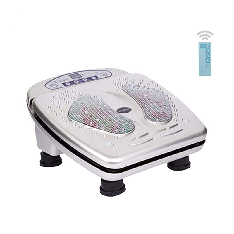 休日に略語スペクトラム家庭およびオフィスでの足のマッサージとストレス緩和のために、血液循環リモートコントロールフットマッサージャーマシン、15の振動モード、熱を伴うフットマッサージャーを促進します。インテリジェント、シルバー